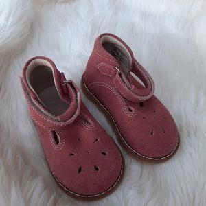 Elephantito Baby Girl Pink Suade Booties Sz 4